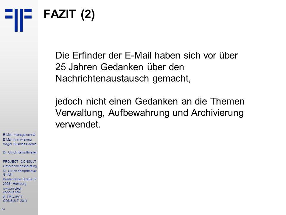 FAZIT (2)