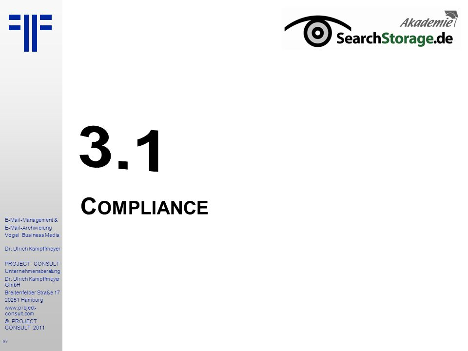3.1 Compliance