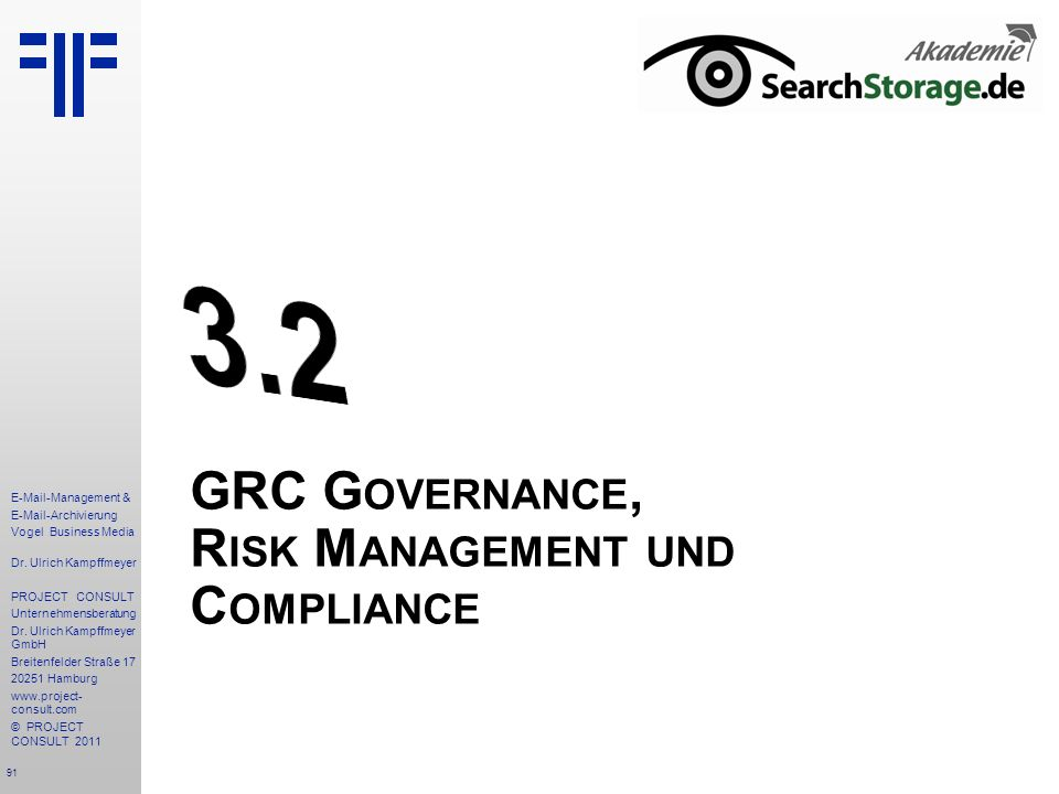 GRC Governance, Risk Management und Compliance