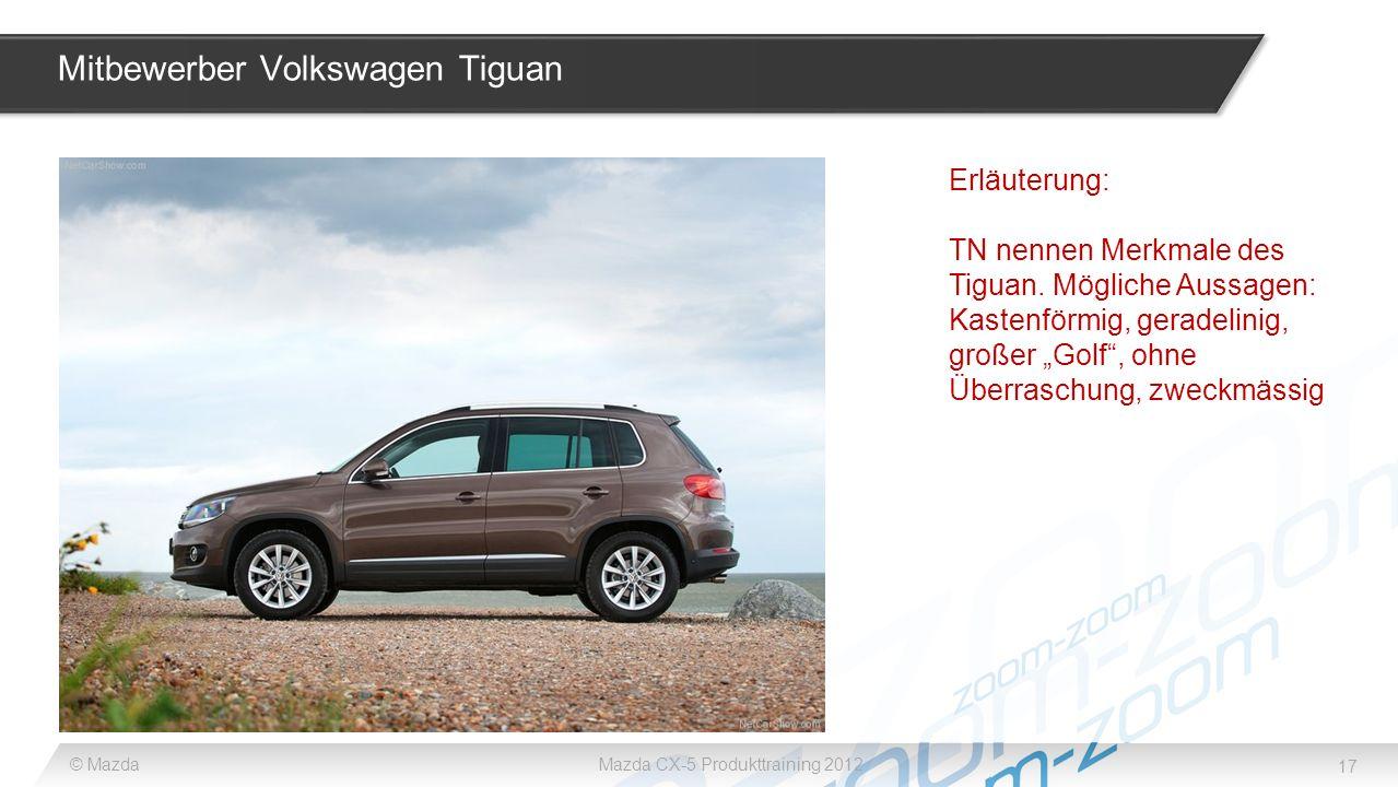 Mitbewerber Volkswagen Tiguan