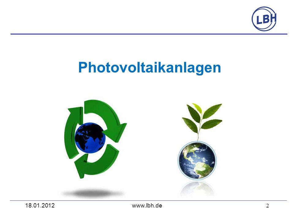 Photovoltaikanlagen 18.01.2012 www.lbh.de