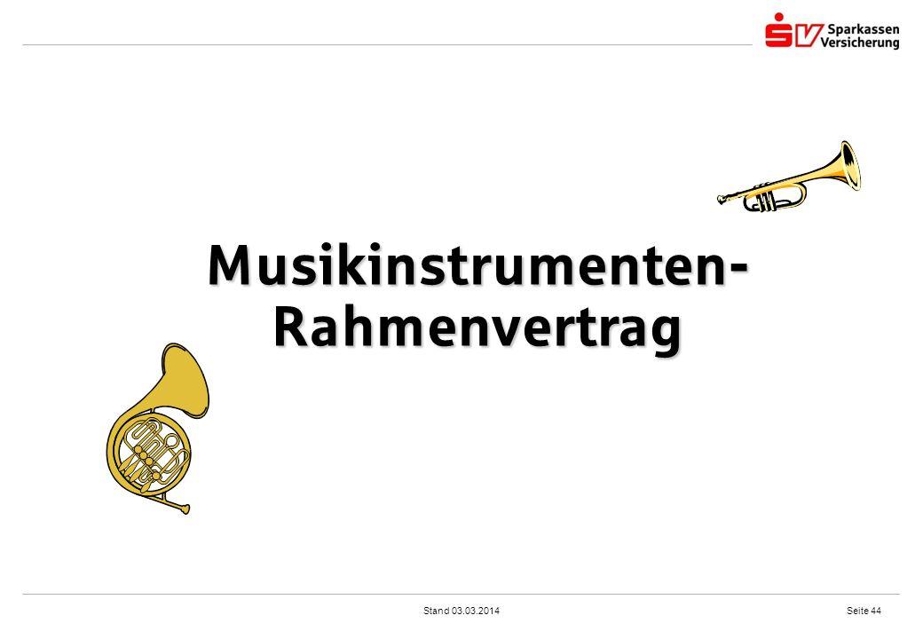 Musikinstrumenten-Rahmenvertrag