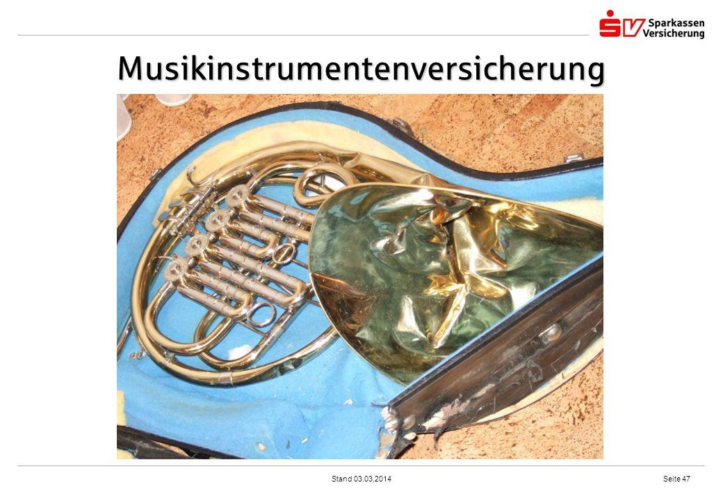 Musikinstrumentenversicherung