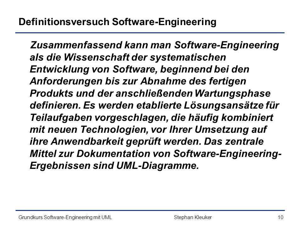 Definitionsversuch Software-Engineering