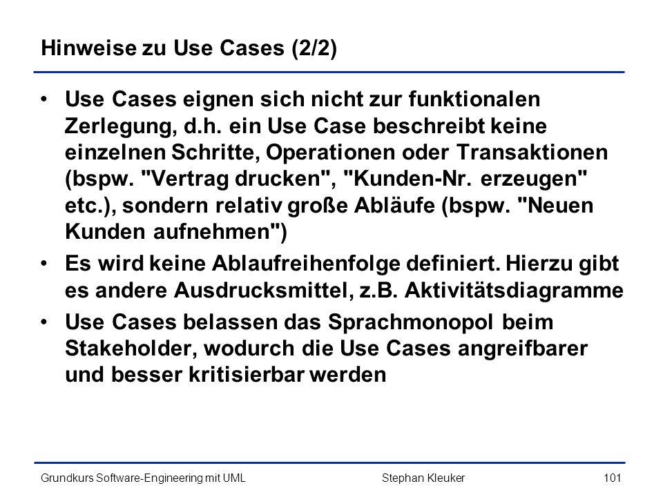 Hinweise zu Use Cases (2/2)