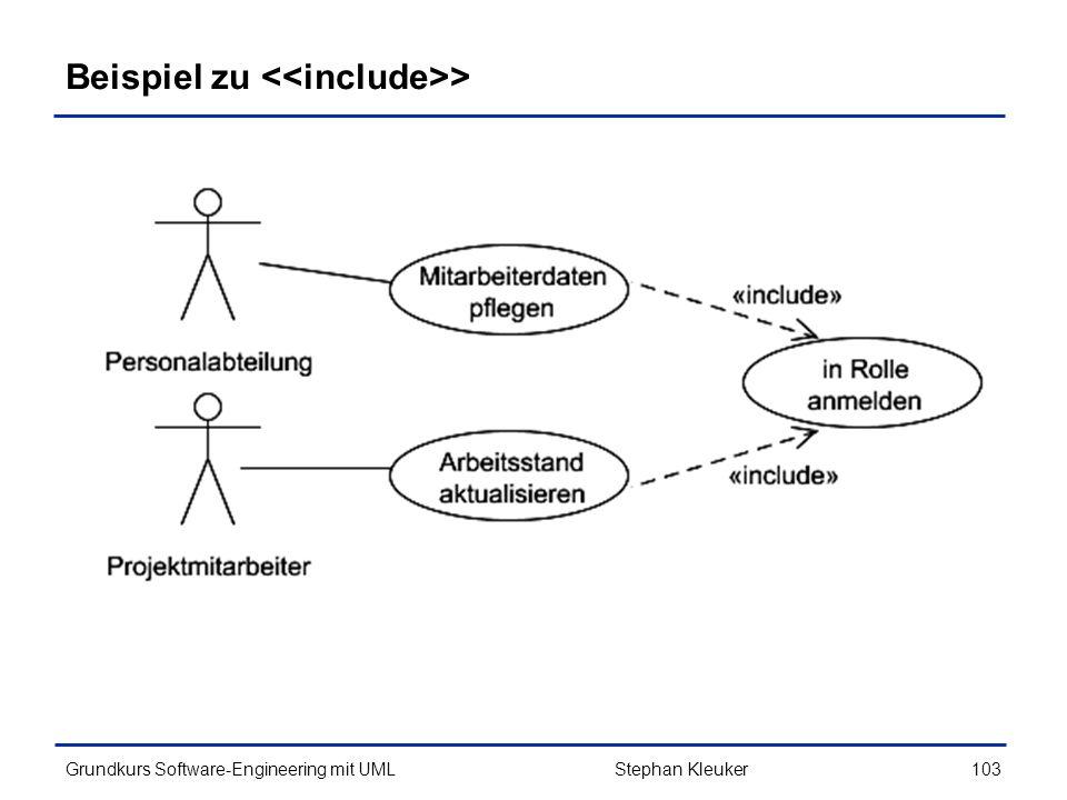 Beispiel zu <<include>>