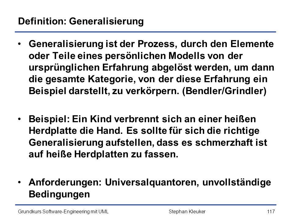 Definition: Generalisierung