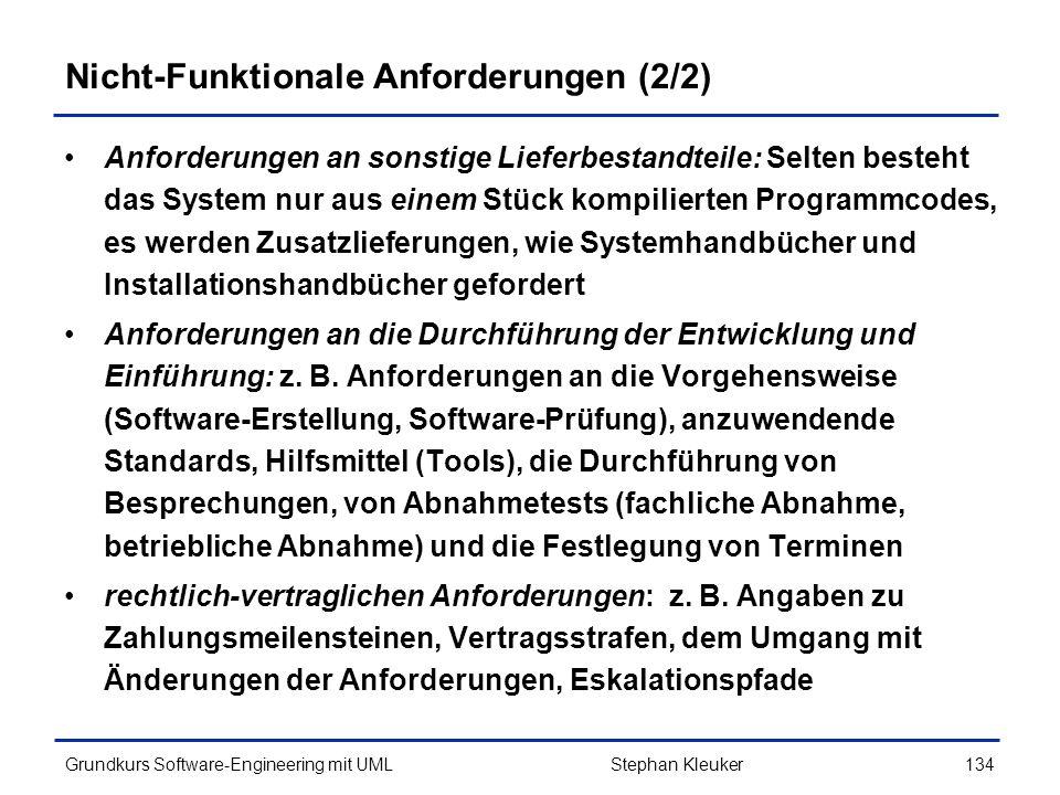 Nicht-Funktionale Anforderungen (2/2)