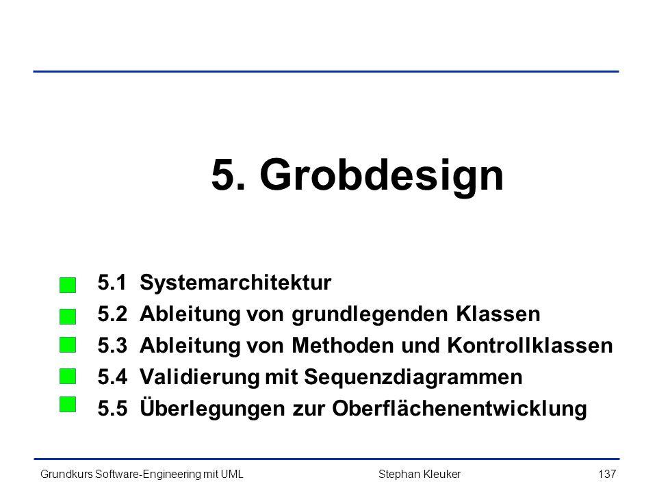 5. Grobdesign 5.1 Systemarchitektur