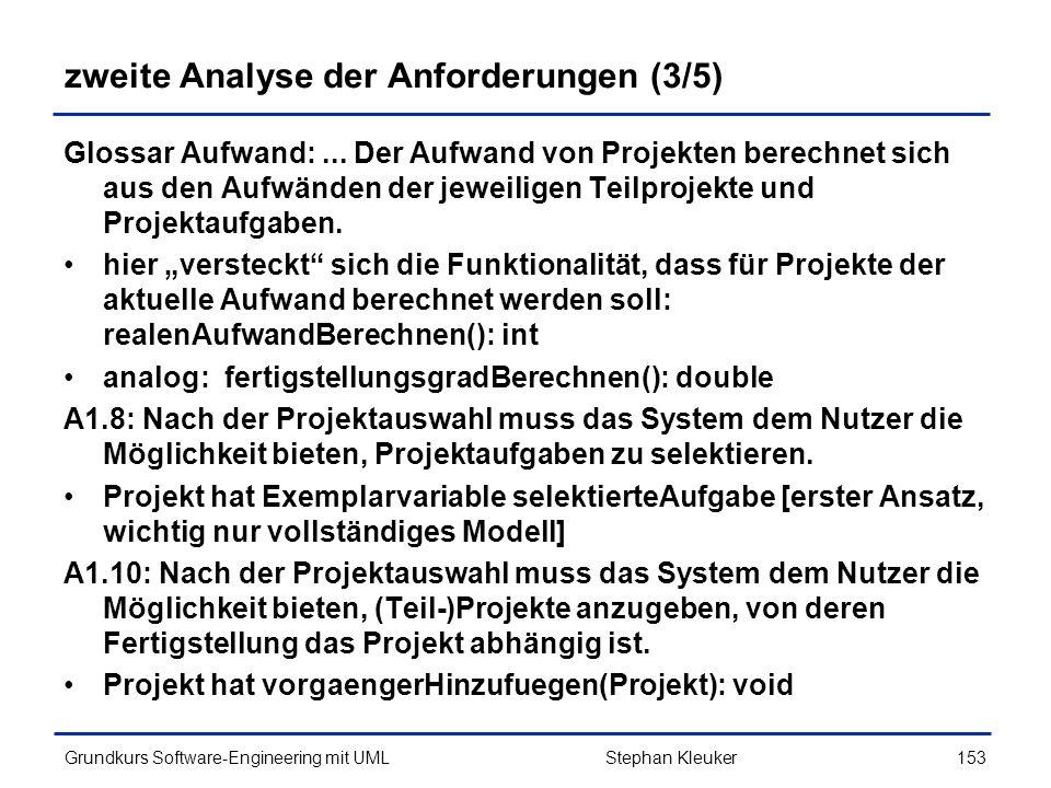 zweite Analyse der Anforderungen (3/5)