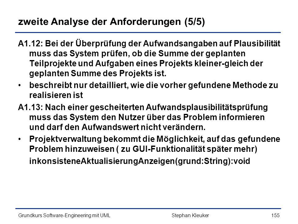 zweite Analyse der Anforderungen (5/5)