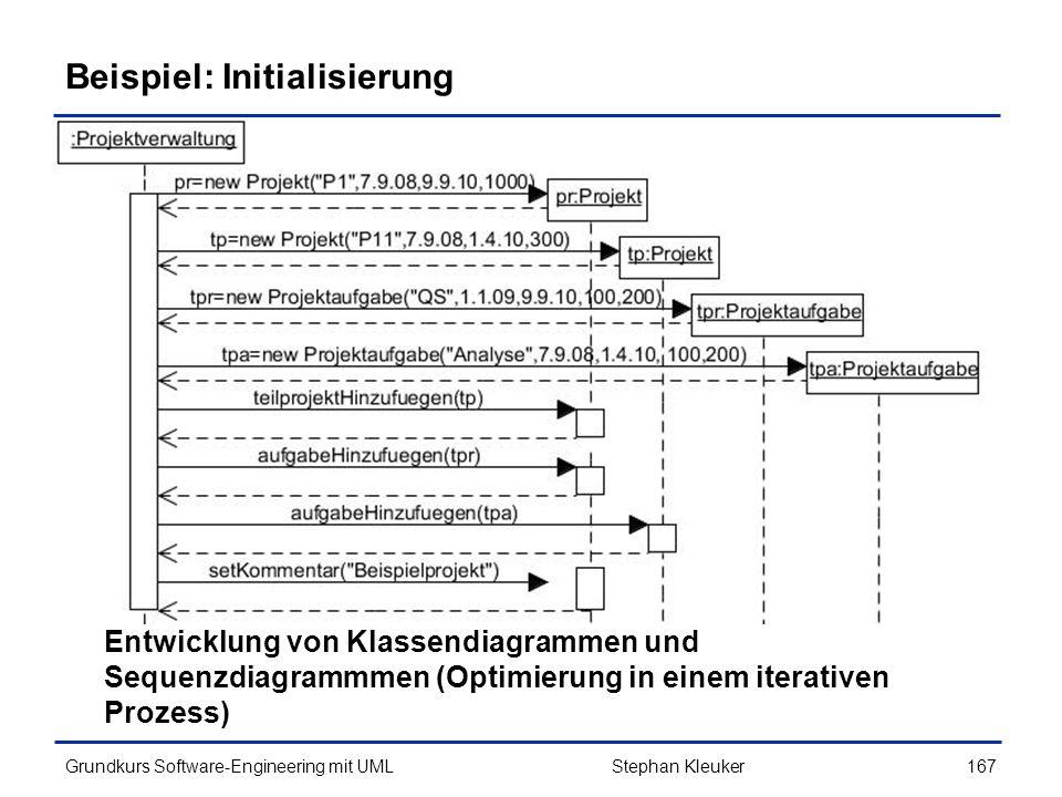 Beispiel: Initialisierung