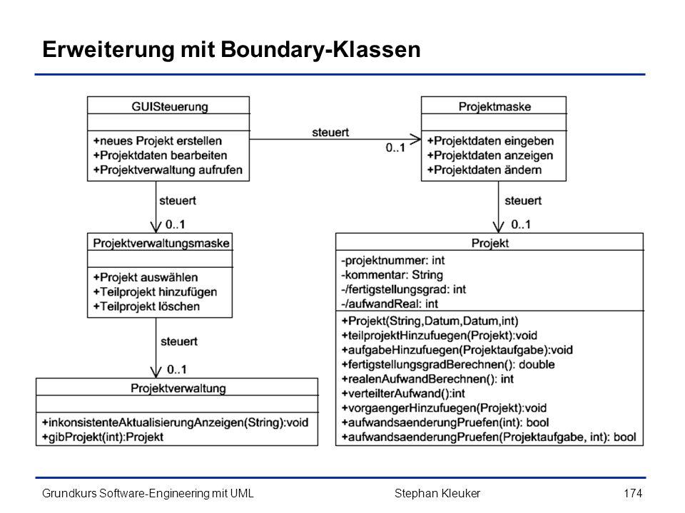 Erweiterung mit Boundary-Klassen