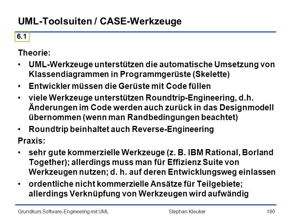 UML-Toolsuiten / CASE-Werkzeuge