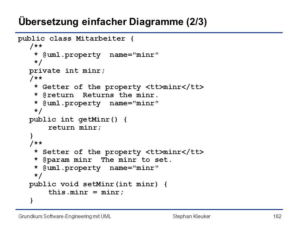 Übersetzung einfacher Diagramme (2/3)