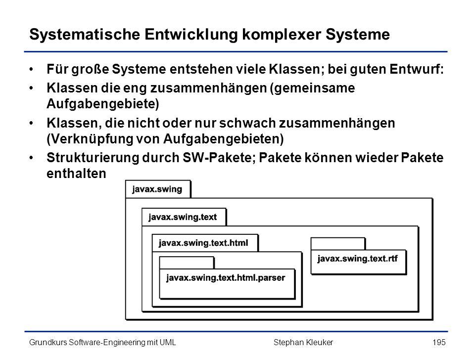 Systematische Entwicklung komplexer Systeme