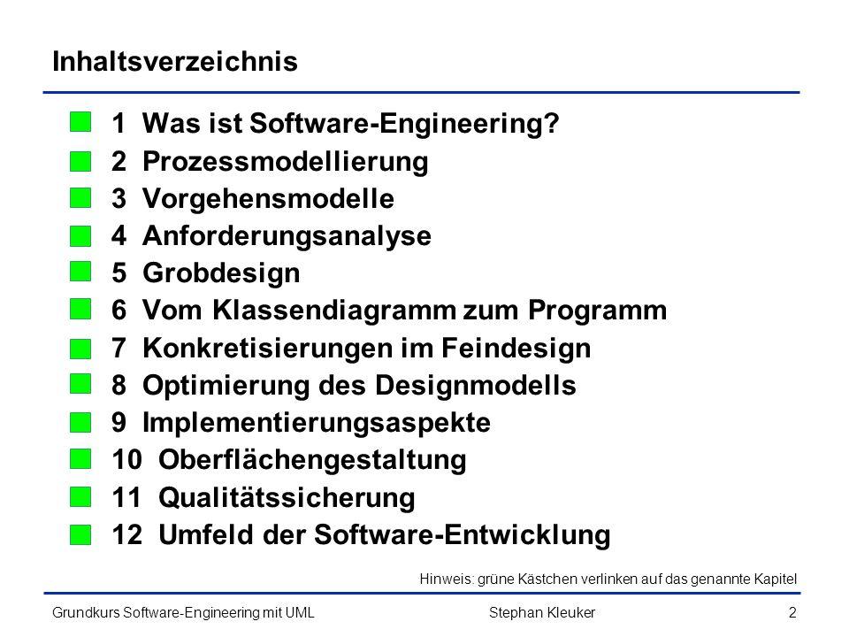1 Was ist Software-Engineering 2 Prozessmodellierung
