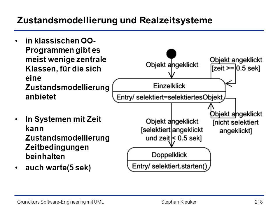 Zustandsmodellierung und Realzeitsysteme