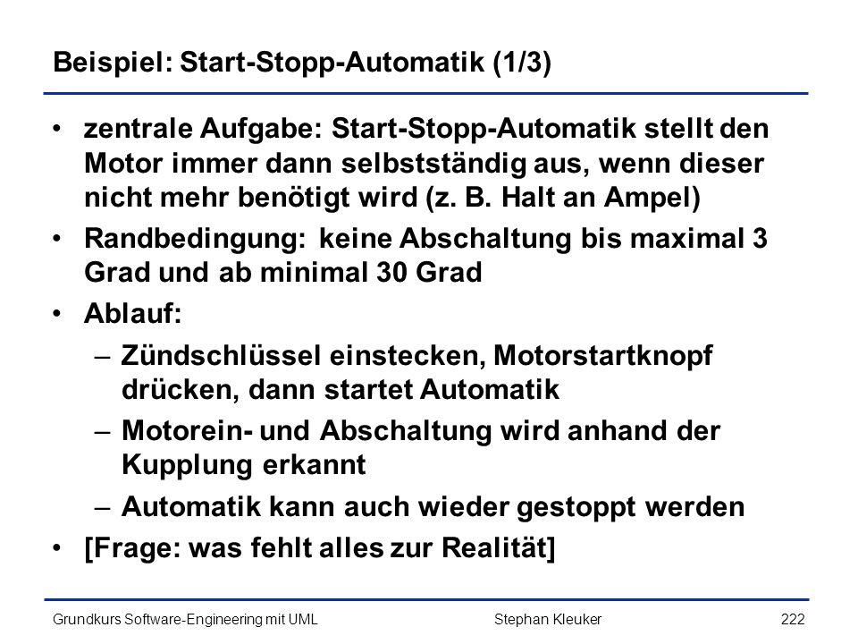 Beispiel: Start-Stopp-Automatik (1/3)