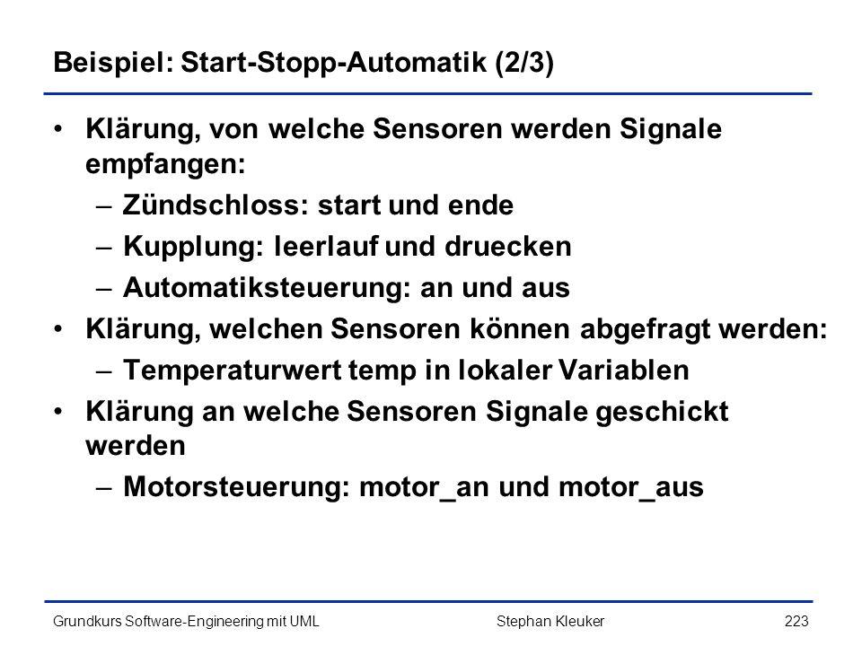 Beispiel: Start-Stopp-Automatik (2/3)