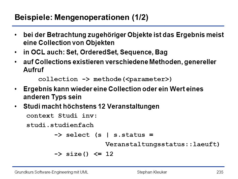 Beispiele: Mengenoperationen (1/2)