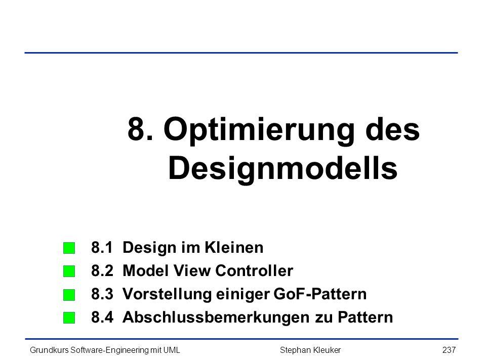 8. Optimierung des Designmodells