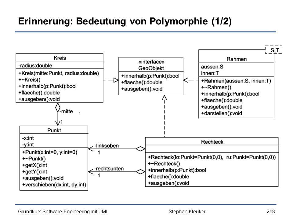 Erinnerung: Bedeutung von Polymorphie (1/2)