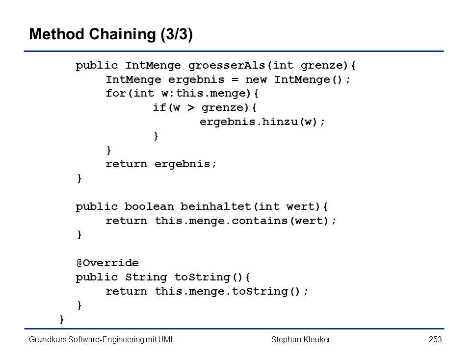Method Chaining (3/3)