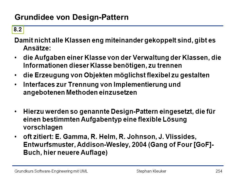 Grundidee von Design-Pattern