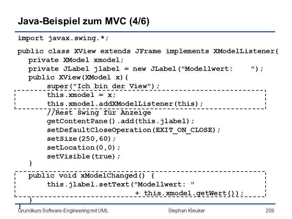 Java-Beispiel zum MVC (4/6)