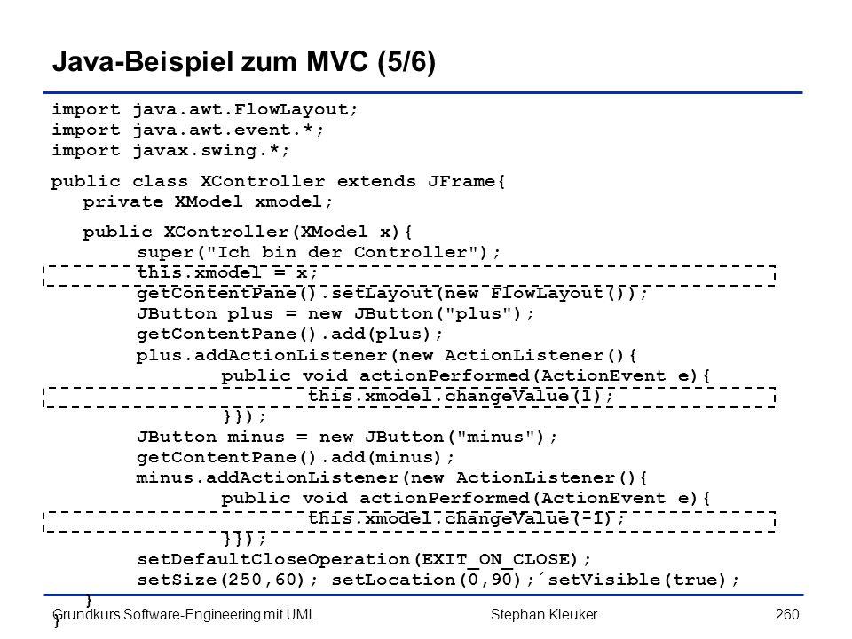 Java-Beispiel zum MVC (5/6)