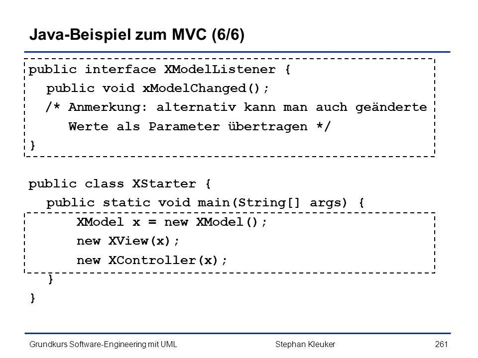 Java-Beispiel zum MVC (6/6)