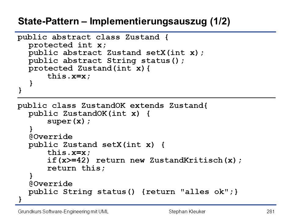State-Pattern – Implementierungsauszug (1/2)
