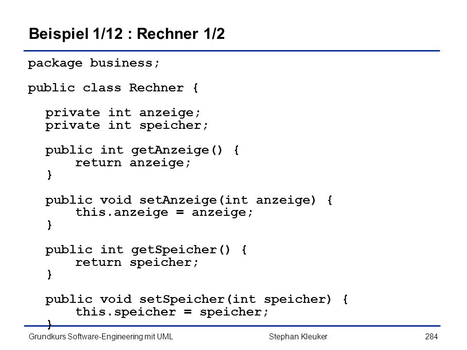 Beispiel 1/12 : Rechner 1/2