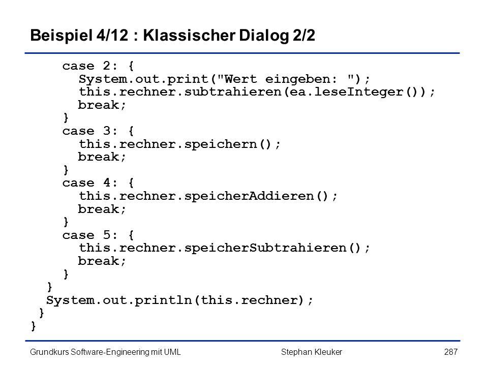 Beispiel 4/12 : Klassischer Dialog 2/2
