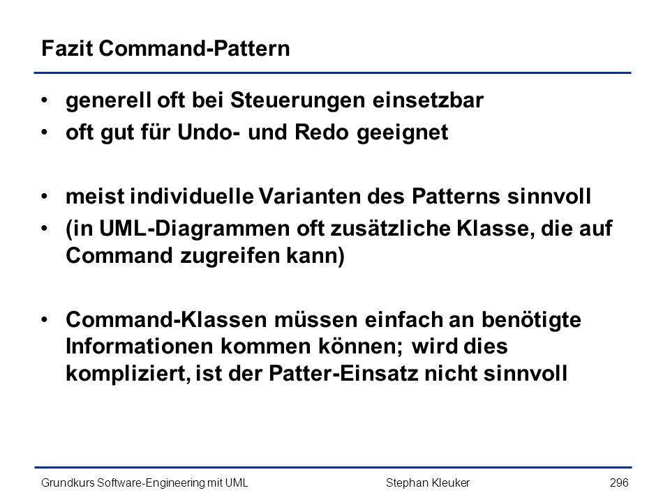 Fazit Command-Pattern