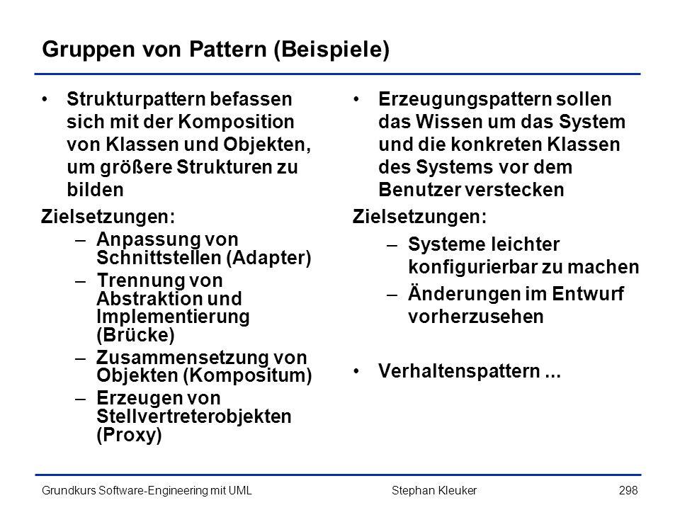 Gruppen von Pattern (Beispiele)