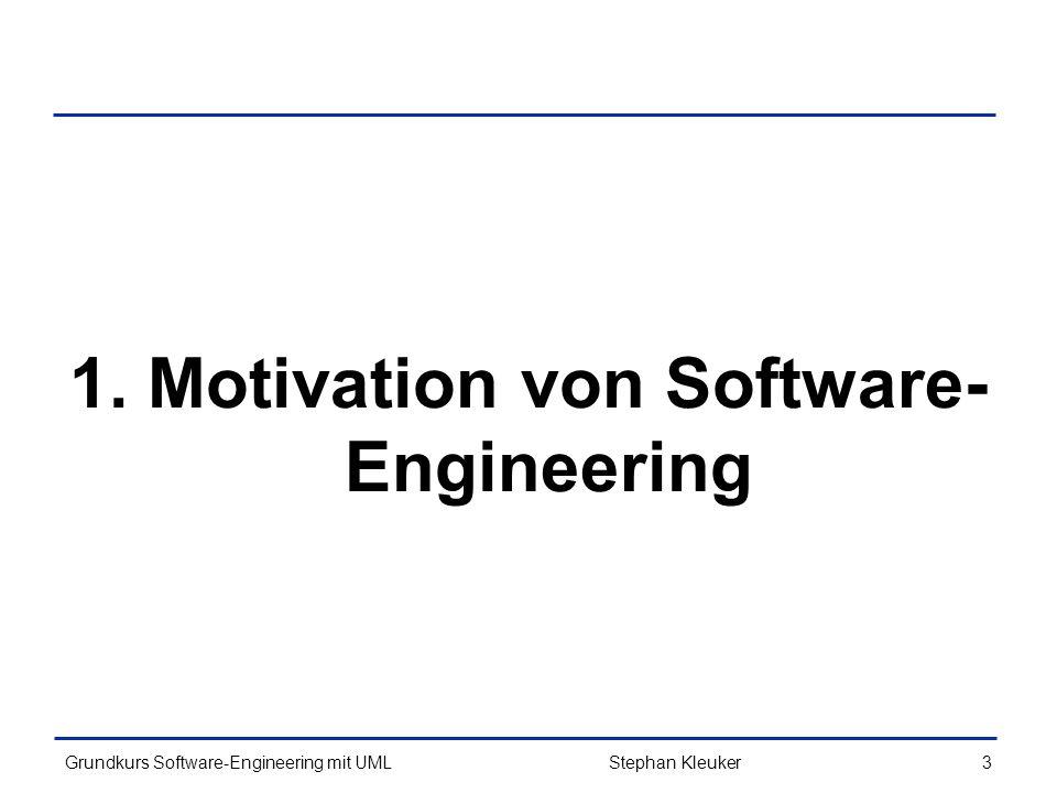 1. Motivation von Software-Engineering