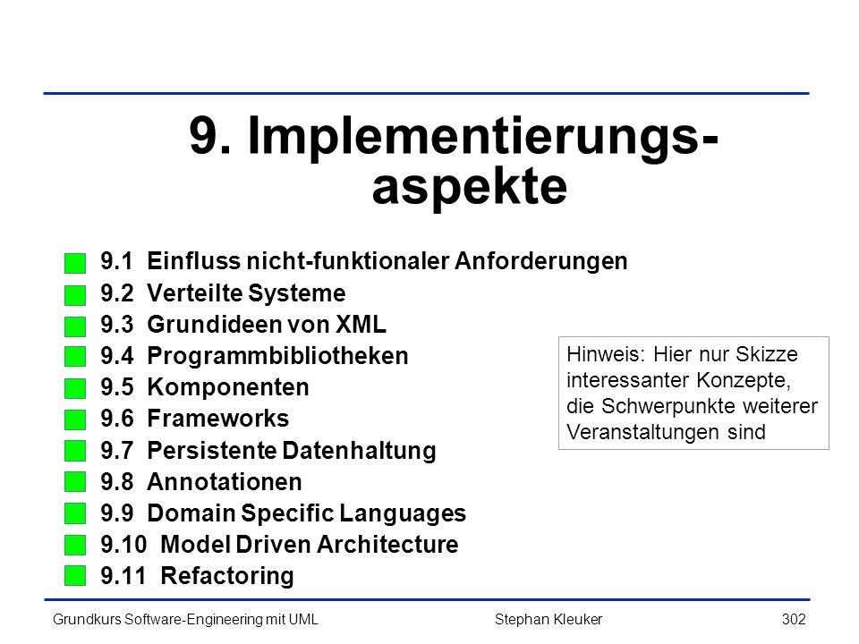 9. Implementierungs-aspekte