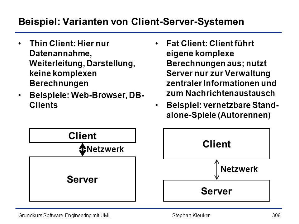 Beispiel: Varianten von Client-Server-Systemen