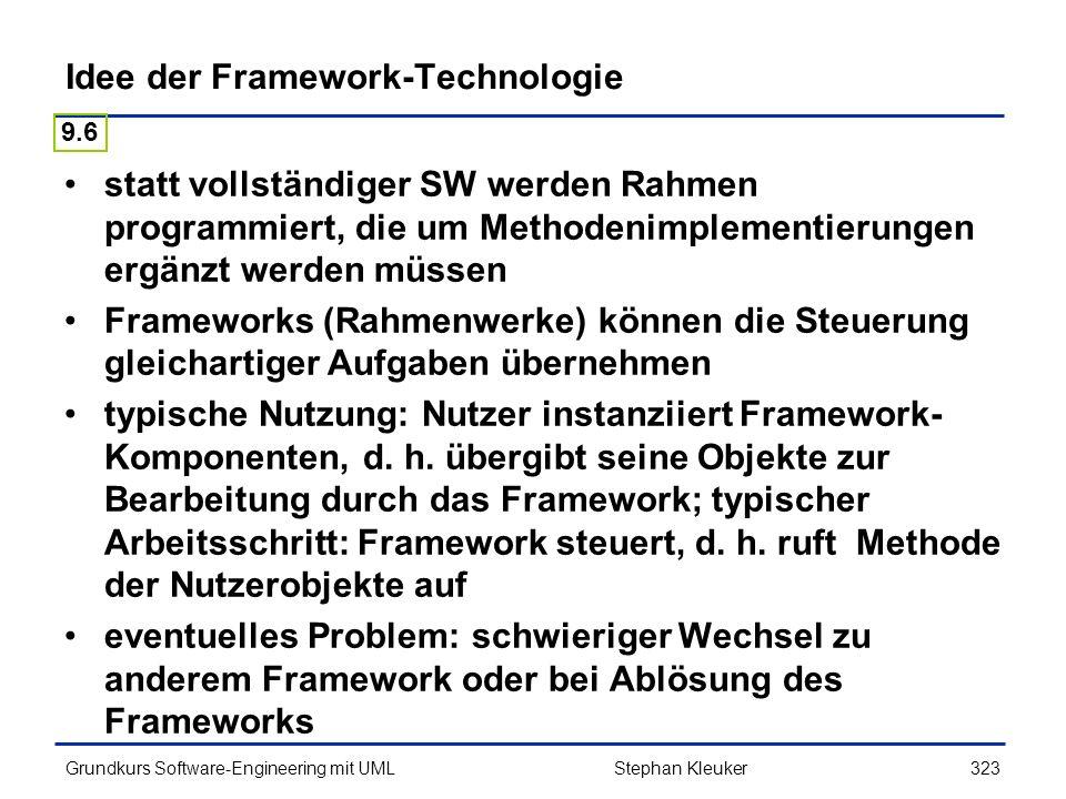 Idee der Framework-Technologie