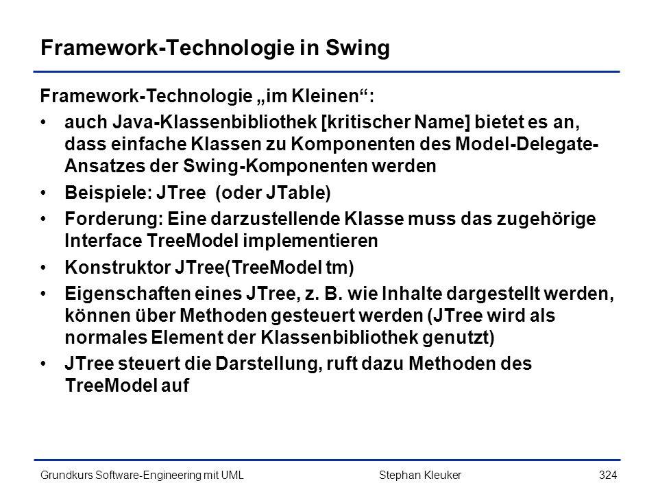 Framework-Technologie in Swing