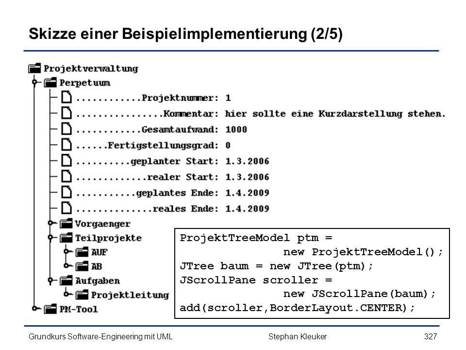 Skizze einer Beispielimplementierung (2/5)