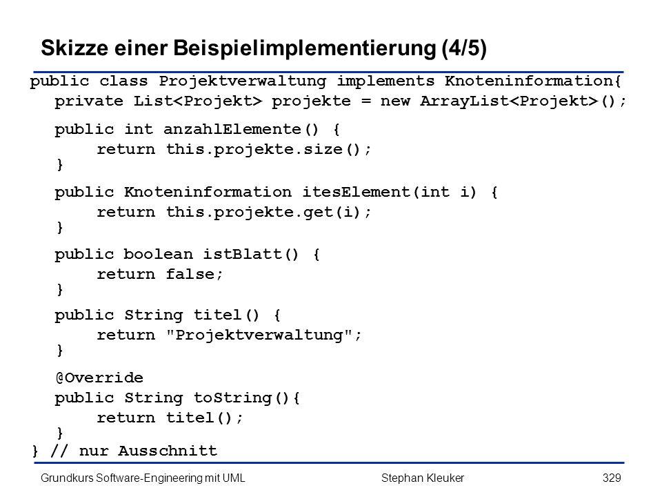 Skizze einer Beispielimplementierung (4/5)