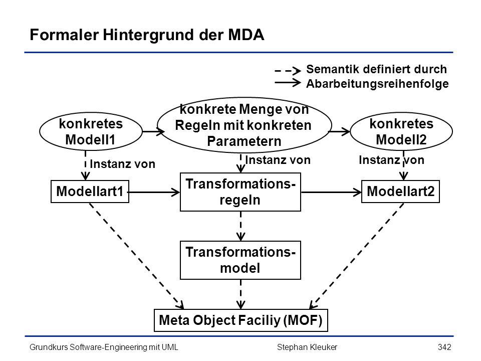 Formaler Hintergrund der MDA