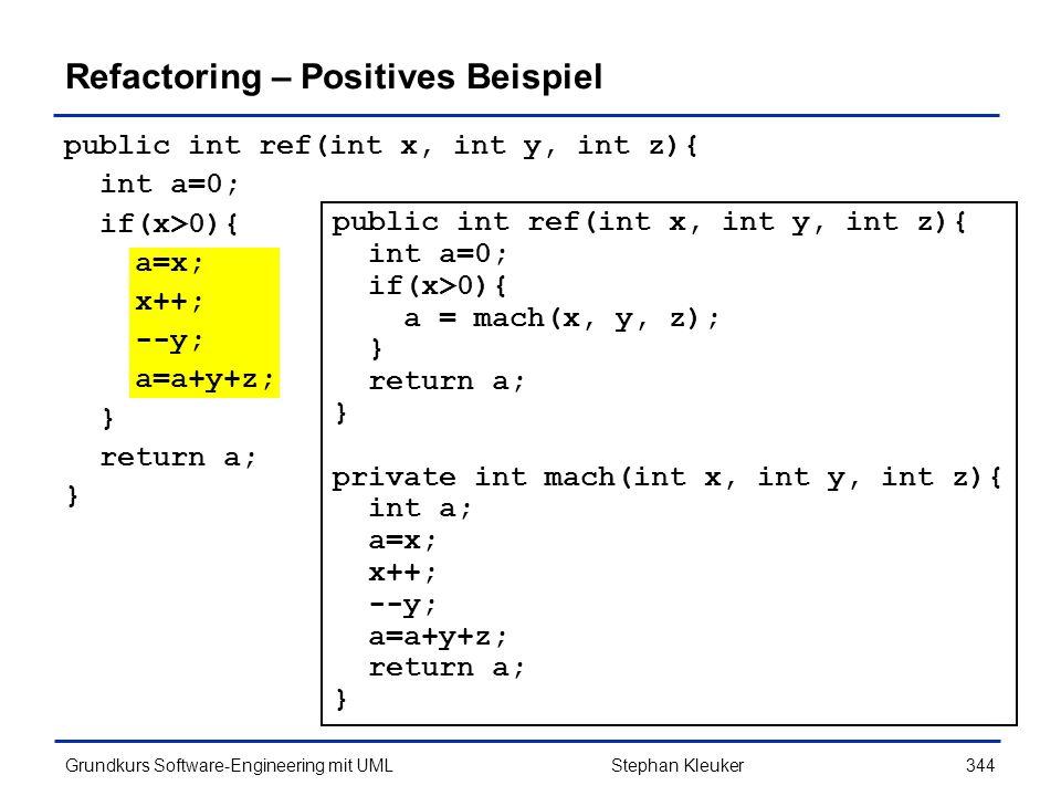 Refactoring – Positives Beispiel
