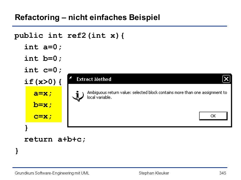 Refactoring – nicht einfaches Beispiel