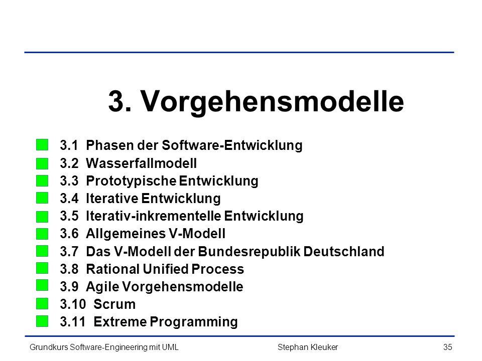3. Vorgehensmodelle 3.1 Phasen der Software-Entwicklung