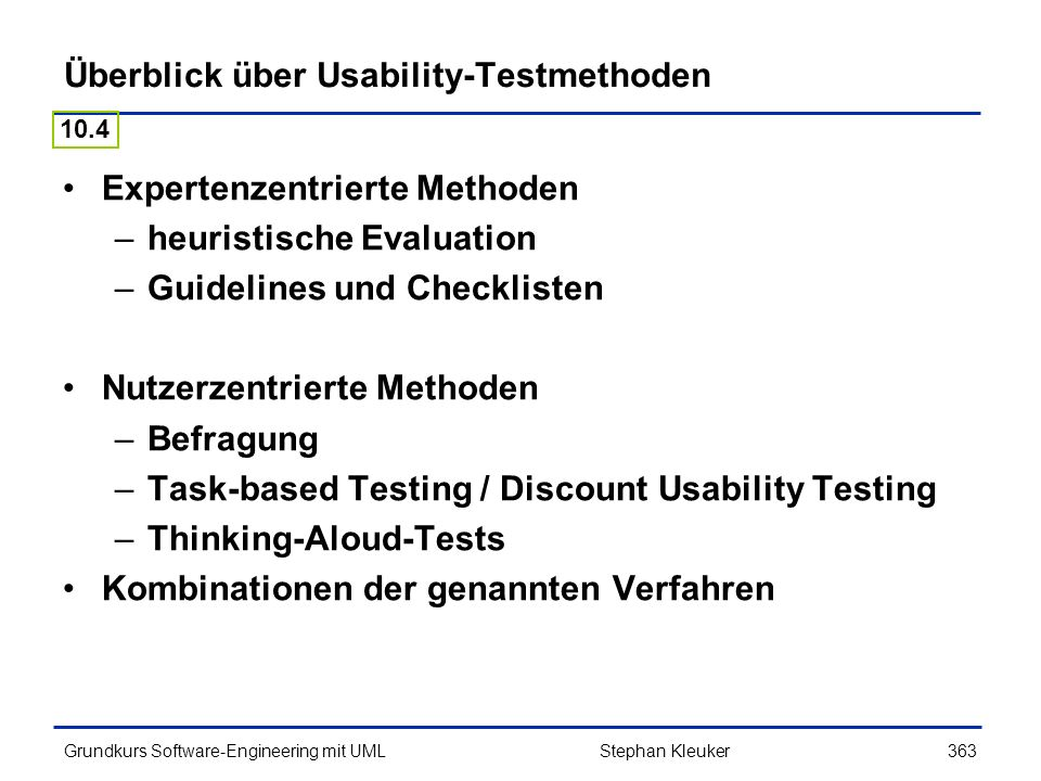 Überblick über Usability-Testmethoden