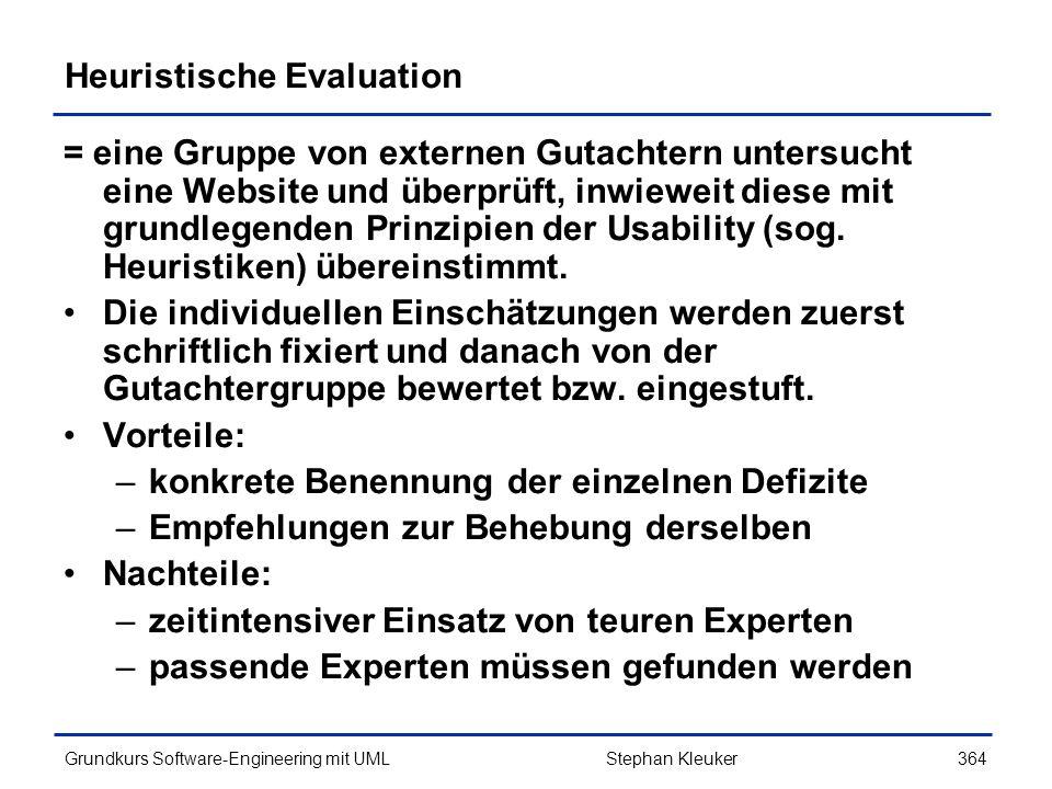 Heuristische Evaluation